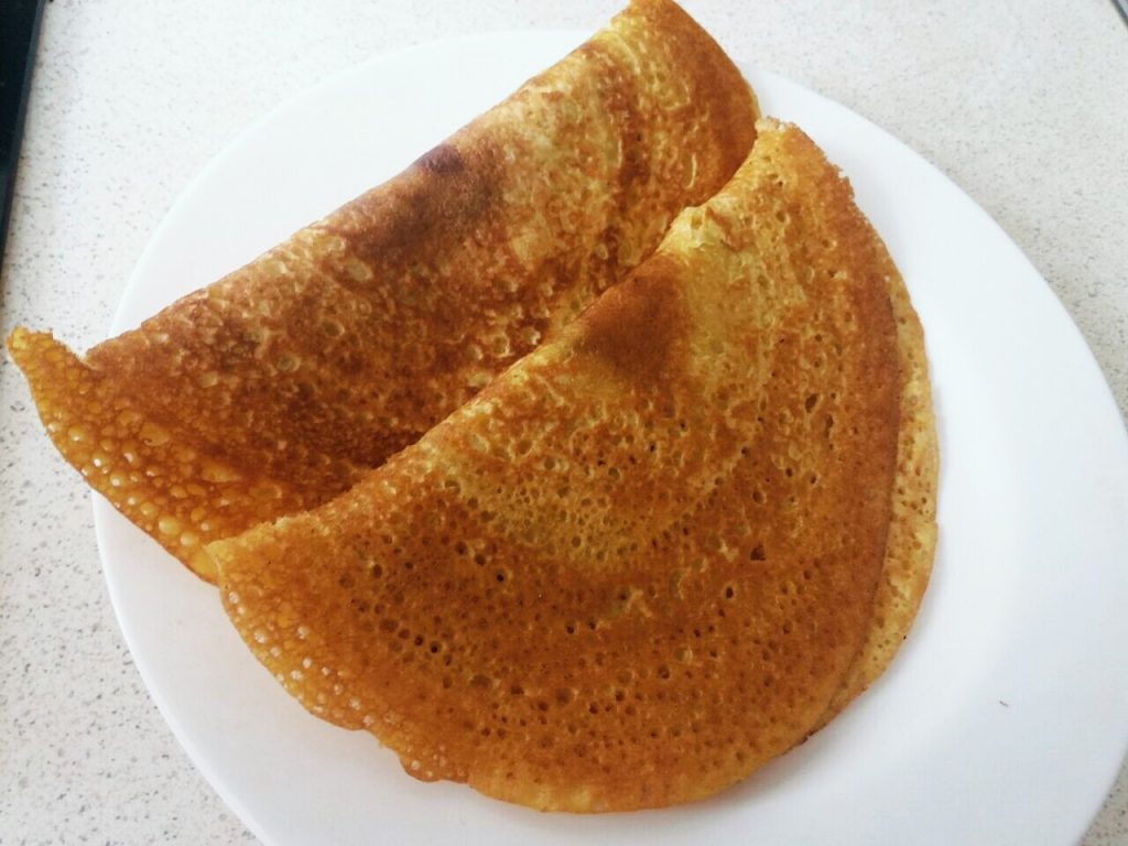 Besan and Rice Flour Dosa - Quick Breakfast