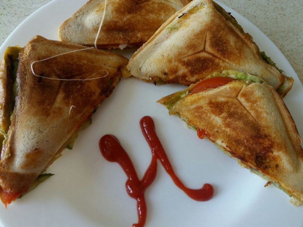 Veg Cheese Toast Sandwich - Quick Snack