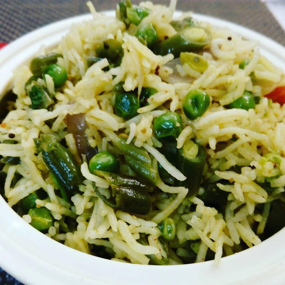 Beans Matar Tahiri Recipe