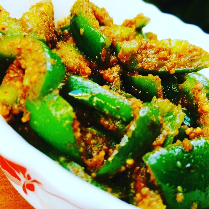 Capsicum Pickle (Simla Mirch Achaar) Recipe