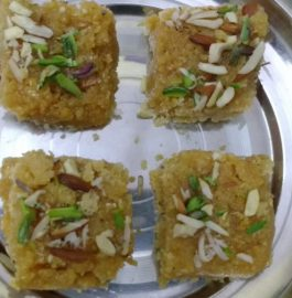 Moong Dal Barfi - Popular Sweet Dish