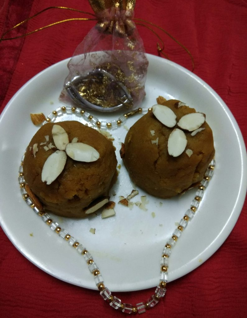 Rice Flour Besan Mango Halwa - Tasty Dessert