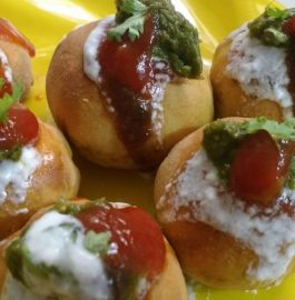 Stuffed Baked Bati Chaat Recipe
