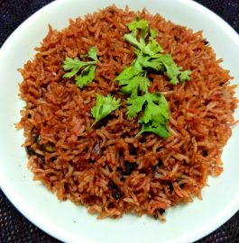 Beetroot Fried Rice - Healthy And Yummy