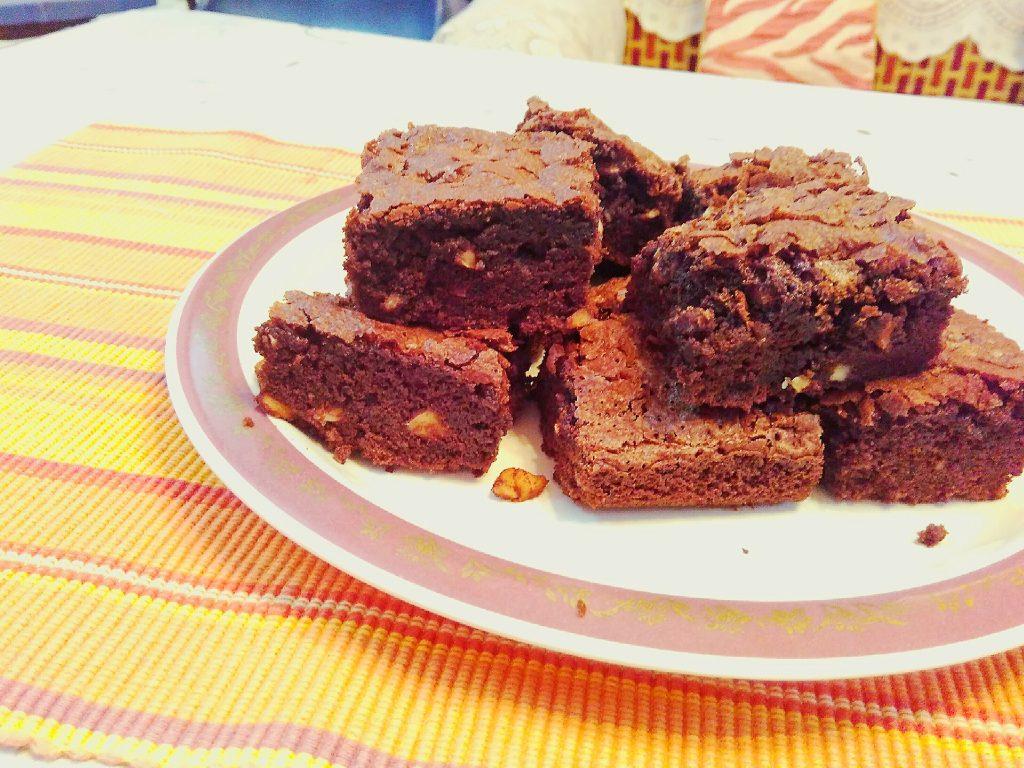 Eggless Fudge Brownie - Chocolate Delight