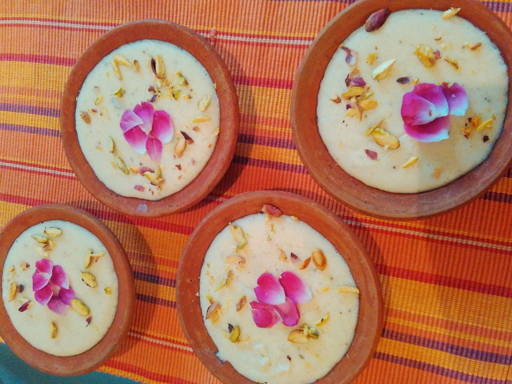 Thandai Phirni - Delicious Sweet Delicacy