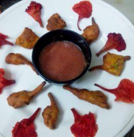 Gulmohar Flower Pakora Recipe
