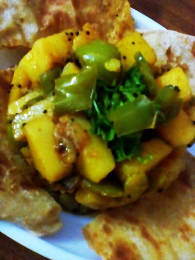 Capsicum Potato Dry Curry Recipe