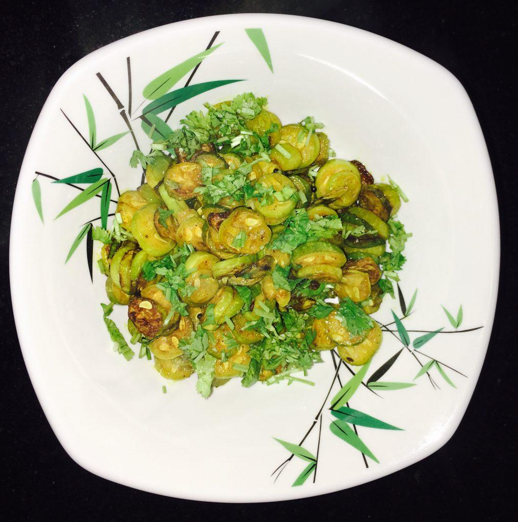 Tondlichi Bhaji - Yummy Dry Curry