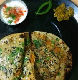 Wheat Flour Aloo Kulcha - Restaurant Style