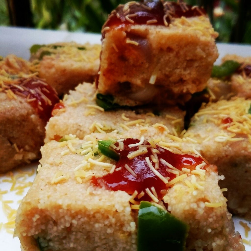 Rava Squares Snack Recipe