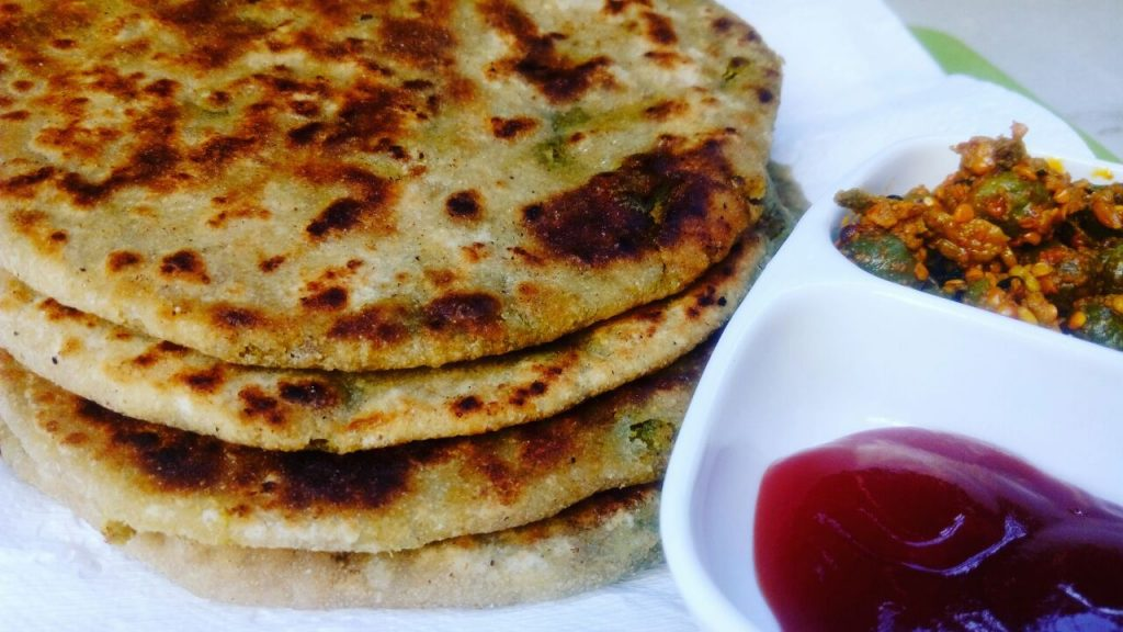 Green Chickpeas/ Choliya Paratha Recipe