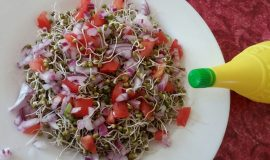 Sprouted Moong Salad Recipe