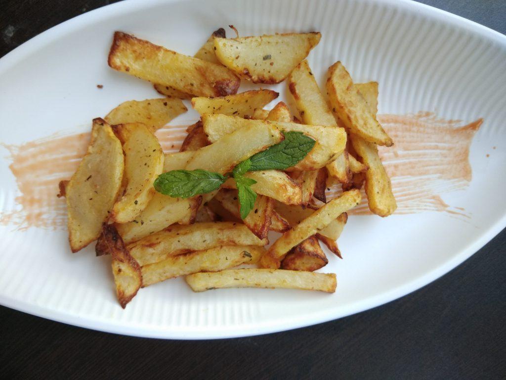Garlic Potato Fries Snack Recipe