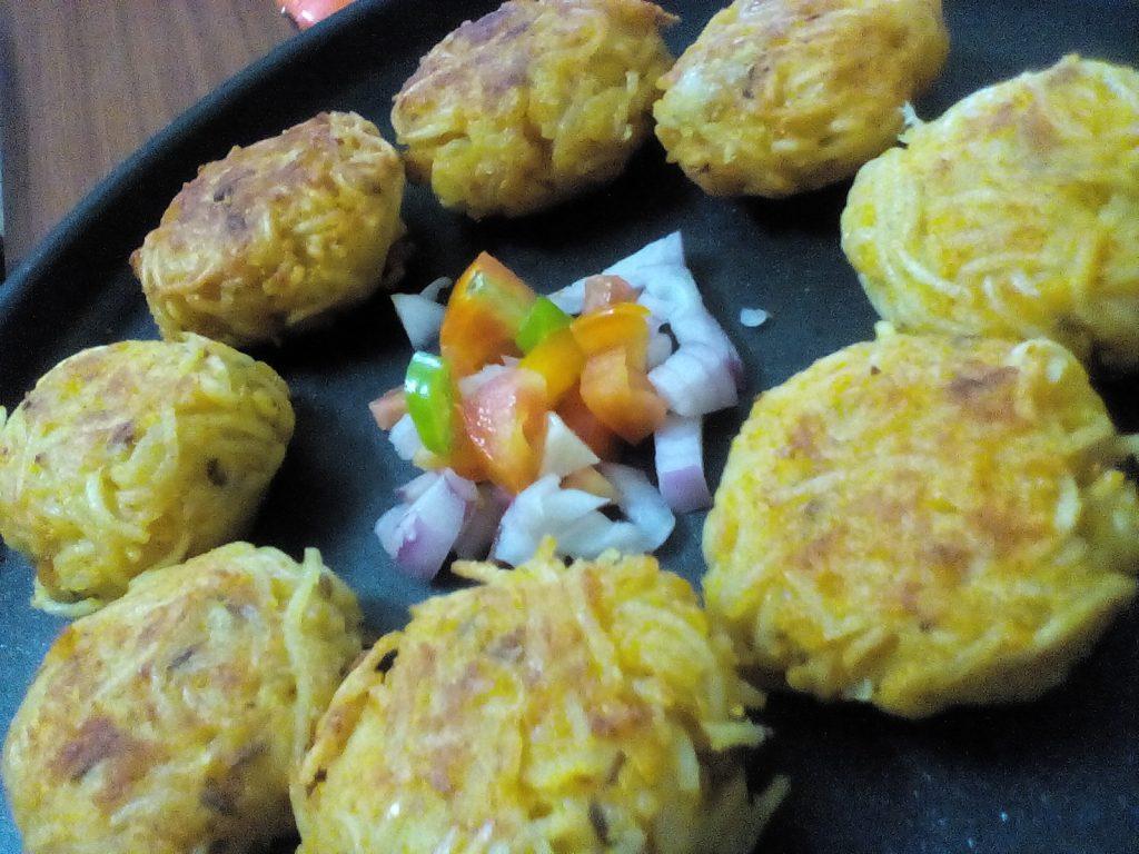 Cheese Stuffed Noodles Pakora Recipe