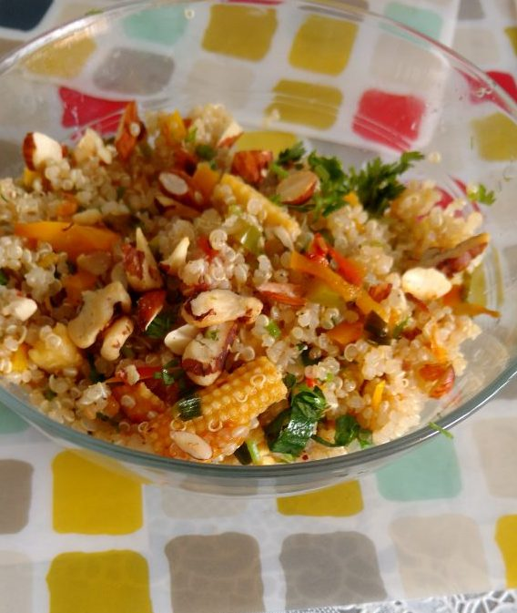 Quinoa Salad With Stir Fried Veggies Recipe