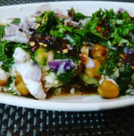 Chole Tikki Chaat Recipe