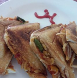 Leftover Noodles Sandwich Recipe
