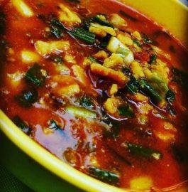 Mangodi With Spring Onion Curry Recipe