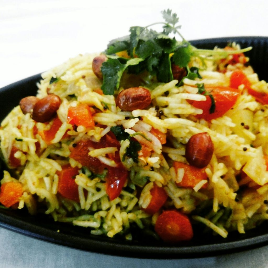Carrots Peanuts Pulav Recipe