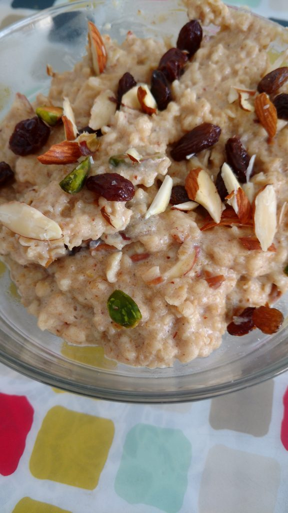 Apple Kheer with Oats Recipe