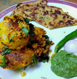 Dahiwale Aloo With Besan Parantha Recipe