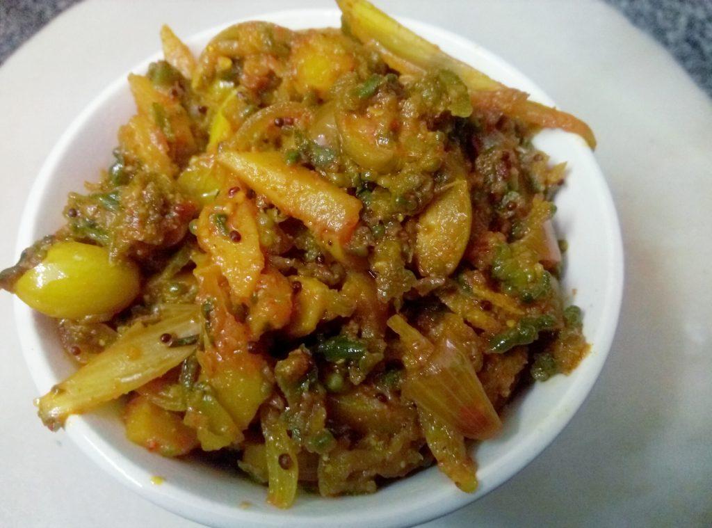 Karela Peels Sabzi Recipe