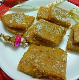 Instant Moong Dal Barfi Recipe