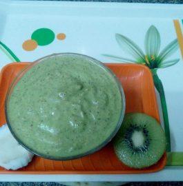Tender Coconut Kiwi Mint Chutney Recipe