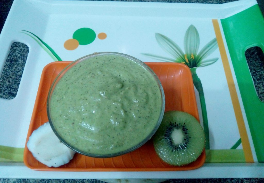 Tender Coconut Kiwi Mint Chutney Recipe