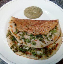 Spinach Uttapam Recipe