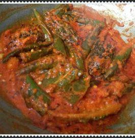 Tawa Fry Style Sabzi With Bhindi Karela Mirchi Recipe