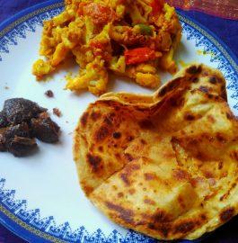 Masala Gobhi & Choor Choor Paratha Recipe