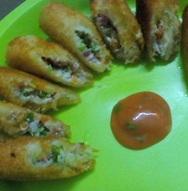 Hung Curd Bread Roll Recipe