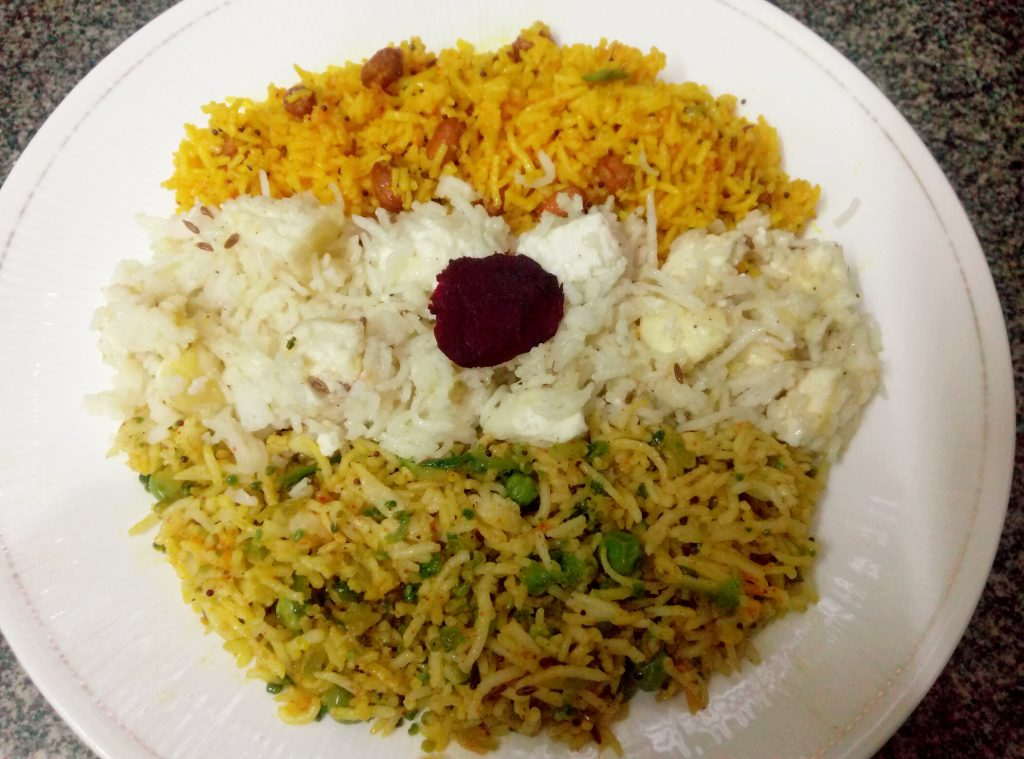 Veg Fried Rice ( Tricolor) Recipe