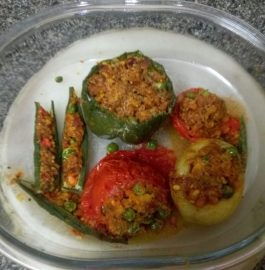 Tricolored Stuffed Veggies With Tricolor Masala Recipe