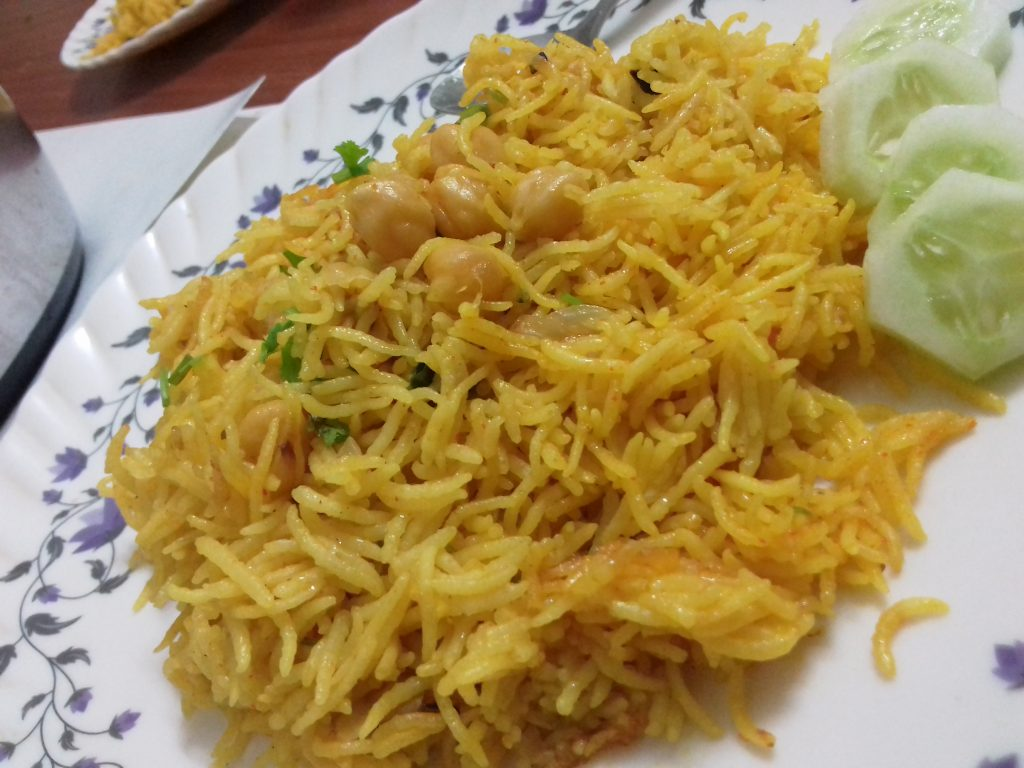 Chickpea Pulav Recipe