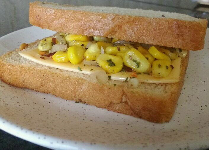 Cheese Corn Sandwich Recipe