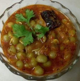 Dry Matar Sprouts Curry Recipe