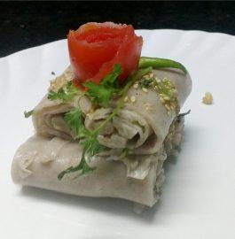 Singhara Khandavi Recipe