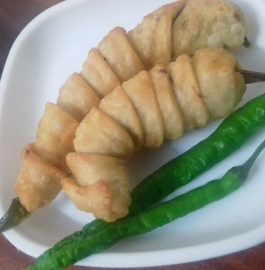 Stuffed Mirchi Pakoda Recipe