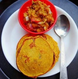 Pancake With Chole Recipe