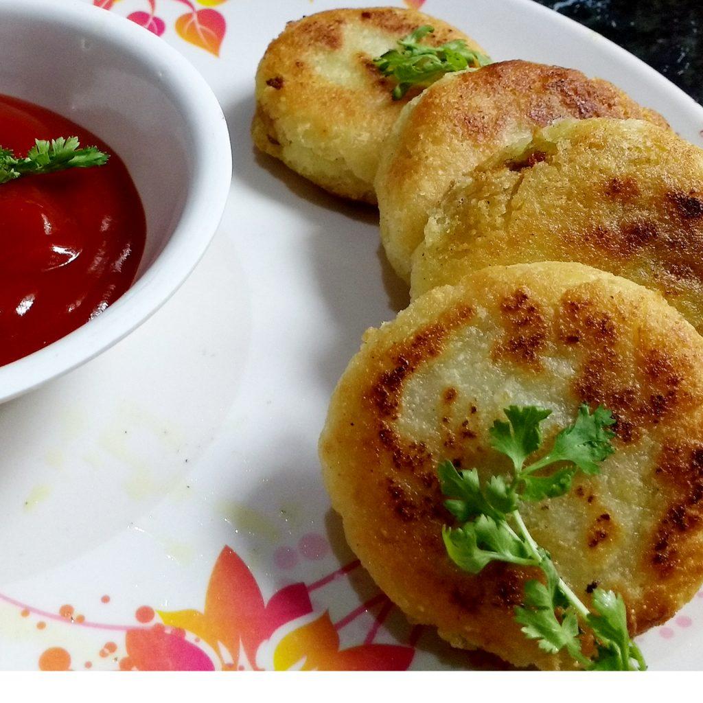 Stuffed Hung Curd Rice Cutlets Recipe