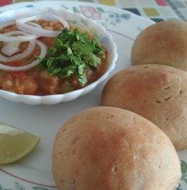 Pav Bhaji With Wheat Buns Recipe