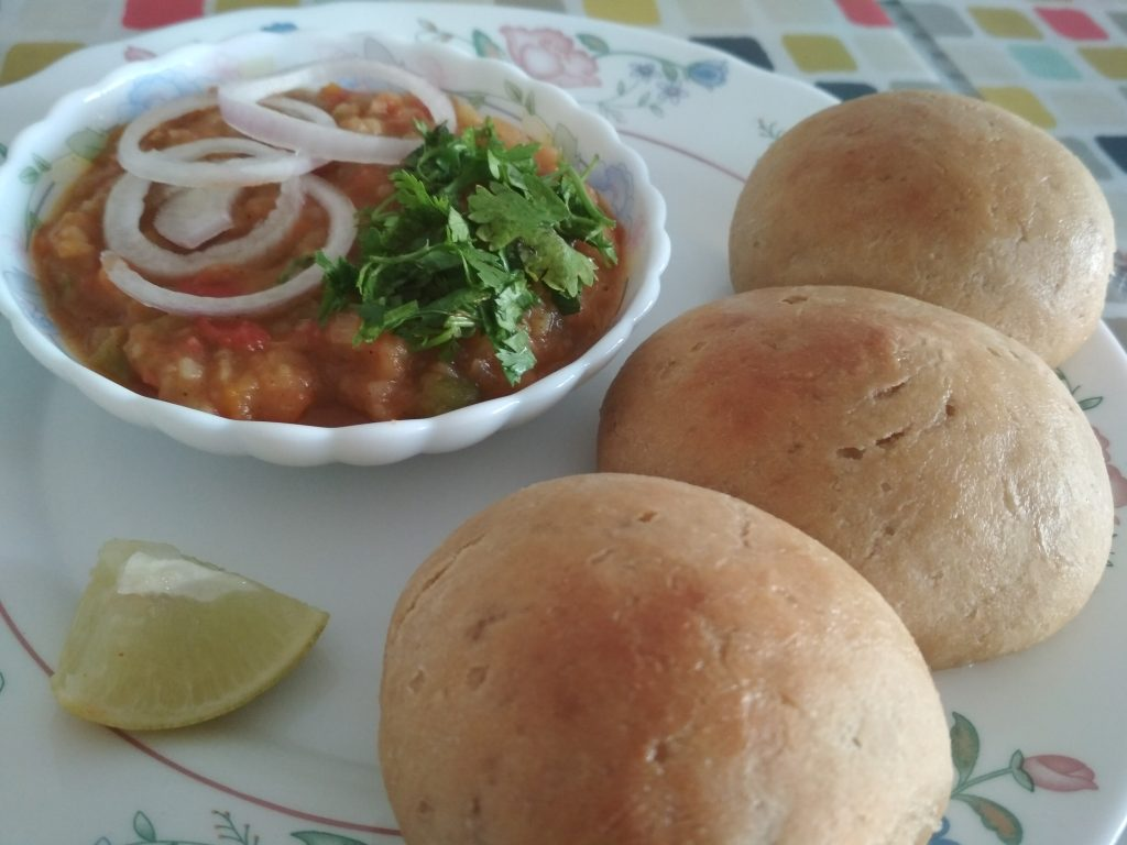 Pav Bhaji With Wheat Buns Recipe