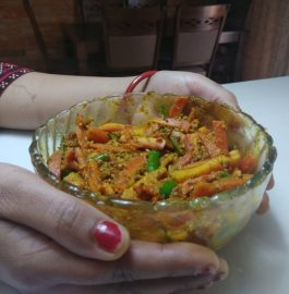 Red carrot chili pickle recipe| Gajar Mirchi ka jhatpat achaar recipe