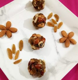 Caramelized Dry Fruit Ladoo Recipe