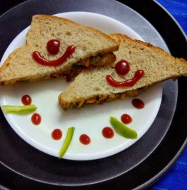Corn Capsicum Mayo Sandwich Recipe