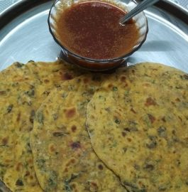 Methi Makki ka Paratha and Vegetable Soup Recipe