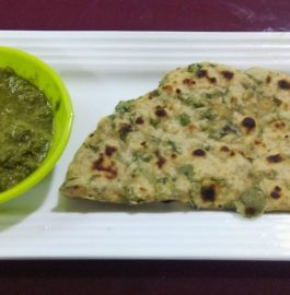 Methi Paratha with Mint Amla Chutney Recipe